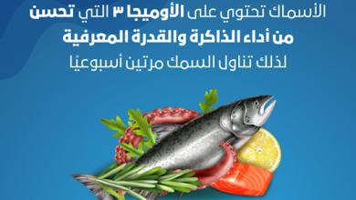 صورة يُنصح بتناولها مرتين في الأسبوع .. الأسماك تُحسن من أداء الذاكرة والقدرة المعرفية