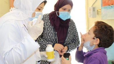 صورة تطعيم تلاميذ الابتدائي ورياض الأطفال بمحافظة الغربية ضد الديدان المعوية
