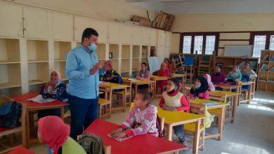 صورة جولة ميدانية لمدير تعليم يوسف الصديق بمدارس قارون لتحقيق الفاعلية التعليمية