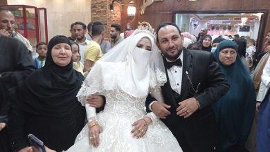 صورة أبناء السمالوس وعائلة أبومبيه يحتفلون بزفاف المهندسين فاطمة فاروق ومحمد عبد التواب