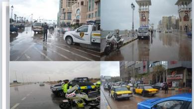 صورة جهود مكثفة لأجهزة «الداخلية» المصرية لمواجهة تداعيات الأمطار وموجة الطقس السيئ