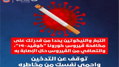 صورة تحذير لكل مُدخّن.. التبغ والنيكوتين يُضعفان قدرتك على مقاومة فيروس كورونا !!
