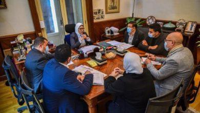 صورة وزيرة الصحة تتابع مستجدات مشروع تطوير ورفع كفاءة مستشفيات الحميات والصدر