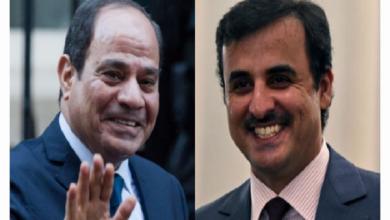 صورة وسط ترحيب بالتطور الإيجابي للعلاقات بين البلدين.. أمير قطر يدعو الرئيس المصري لزيارة الدوحة