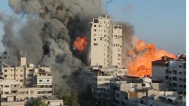 صورة قصف غزة «كارثي» .. وإدانات دولية لاستهداف إسرائيل مكاتب وكالات أنباء عالمية