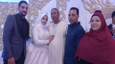 صورة عائلة مطر وأبناء السمالوس يحتفلون بزفاف أحمد سلامة والجميلة دعاء محمد حسين