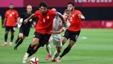 صورة الأولمبي المصري يخنق «الماتادور الإسباني» في أولمبياد طوكيو ويُجبره على التعادل
