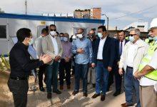 صورة محافظ الفيوم ونائب وزير الإسكان يتفقدان الأعمال الإنشائية لتطوير محطة مياه قحافة